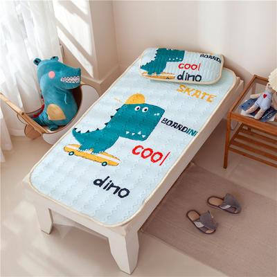 2021新款凉感丝儿童乳胶凉席 60*120cm凉席+30*50枕套/只 滑板恐龙