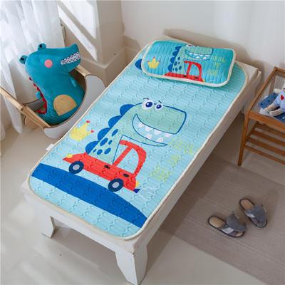 2021新款凉感丝儿童乳胶凉席 60*120cm凉席+30*50枕套/只 汽车恐龙