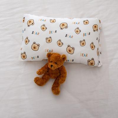 2021年新款A类生态针织棉儿童枕套 30*50cm(珍珠棉) 饼干小熊