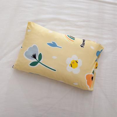 2021年新款A类生态针织棉儿童枕套 30*50cm(珍珠棉) 黄小花