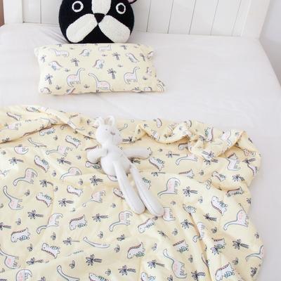 2021年新款A类生态针织棉儿童枕套 30*50cm(珍珠棉) 小恐龙