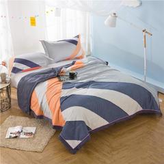 格致空间-纯棉13372大版花夏被三件套 空调被夏凉被可机洗单人双人 加一对枕套 格致空间