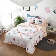 心伴-纯棉13372大版花夏被三件套 空调被夏凉被可机洗单人双人 加一对枕套 心伴