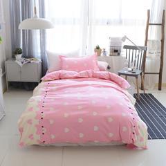 爱心小熊-全棉宿舍学生床三件套纯棉床品 纯棉儿童卡通全棉三件套 1.2m(4英尺)床 爱心小熊