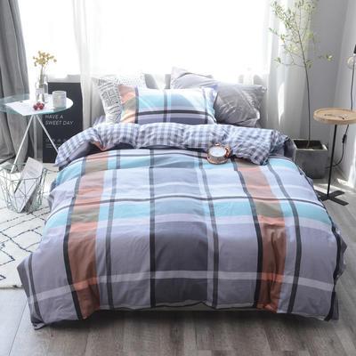 全棉窄幅学生床单人床三件套 宿舍全棉三件套纯棉三件套 1.35m(4.5英尺)床 艾格