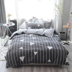 【总】2018全棉窄幅学生床单人床三件套 全棉三件套纯棉三件套 1.35m(4.5英尺)床 魅力先生
