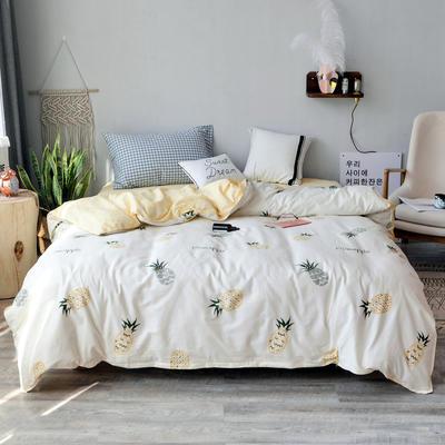 【总】北欧小清新12868多规格单品被套 纯棉斜纹印花被套全棉被套 160*210cm被套 菠萝派对