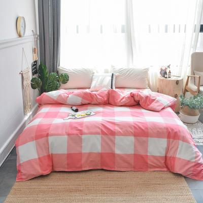 【总】北欧小清新12868多规格单品被套 纯棉斜纹印花被套全棉被套 160*210cm被套 简单生活红