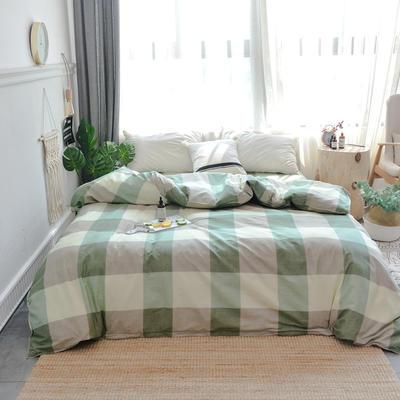 【总】北欧小清新12868多规格单品被套 纯棉斜纹印花被套全棉被套 180*220cm被套 简单生活绿