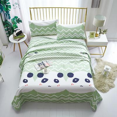 【总】可机洗可水洗冰丝席床单款三件套空调席 床单款冰丝席三件套凉席印花冰丝席 250*250cm冰丝席三件套 熊猫