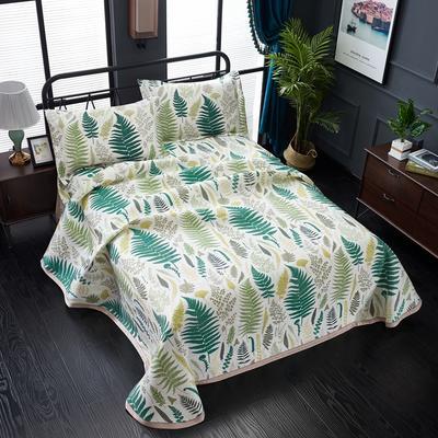 加厚600D冰丝席床单款三件套 可水洗机洗数码印花提花凉席床单款冰丝席三件套 250*250冰丝席床单三件套 绿野仙踪