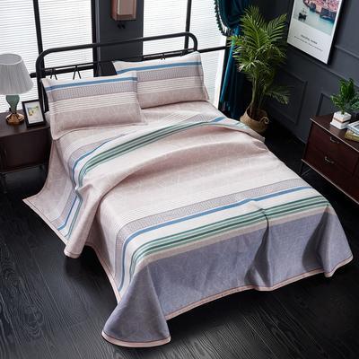 加厚600D冰丝席床单款三件套 可水洗机洗数码印花提花凉席床单款冰丝席三件套 250*250冰丝席床单三件套 悠闲时光玉