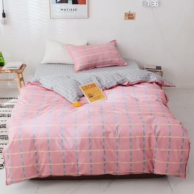 【总】2020新花型 全棉窄幅学生床单人床三件套 宿舍全棉三件套纯棉三件套 1.2m(4英尺)床 美妙人生粉