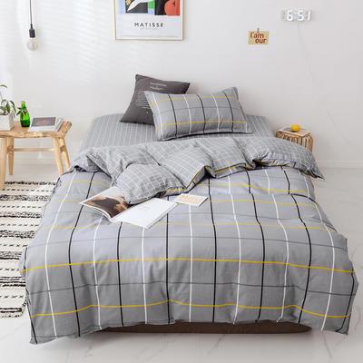 【总】2020新花型 全棉窄幅学生床单人床三件套 宿舍全棉三件套纯棉三件套 1.2m(4英尺)床 柏拉图