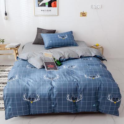 【总】2020新花型 全棉窄幅学生床单人床三件套 宿舍全棉三件套纯棉三件套 1.2m(4英尺)床 鹿角巷