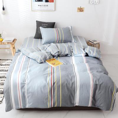 【总】2020新花型 全棉窄幅学生床单人床三件套 宿舍全棉三件套纯棉三件套 1.2m(4英尺)床 时尚大道