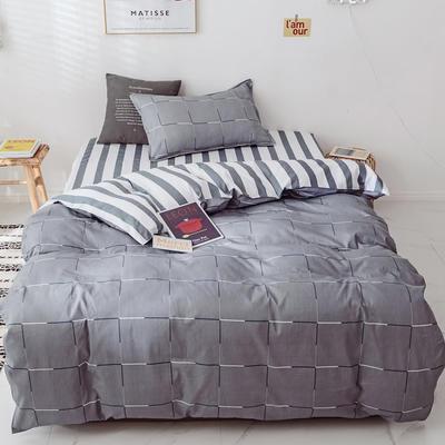 【总】2020新花型 全棉窄幅学生床单人床三件套 宿舍全棉三件套纯棉三件套 1.2m(4英尺)床 一夜未央