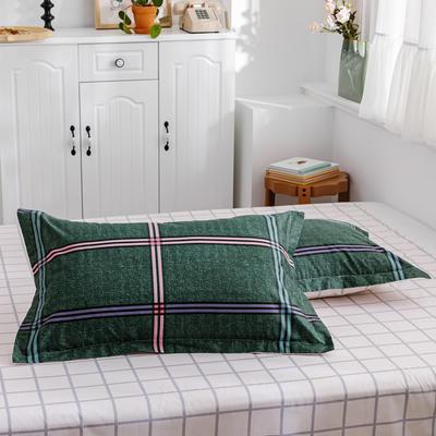 2020新款-全棉12868多规单枕套 半活性印花纯棉斜纹12868单枕套单品枕套 48cmX74cm/一对 潮格