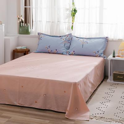 2020新款-全棉12868多规单床单 半活性印花纯棉斜纹12868单品床单 160X230cm 空谷幽兰