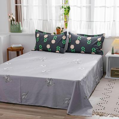 2020新款-全棉12868多规单床单 半活性印花纯棉斜纹12868单品床单 160X230cm 浪漫花期