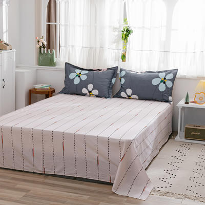 2020新款-全棉12868多规单床单 半活性印花纯棉斜纹12868单品床单 160X230cm 落英缤纷