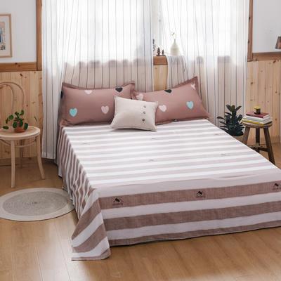 2020新款-全棉12868多规单床单 半活性印花纯棉斜纹12868单品床单 160X230cm 浓情爱意