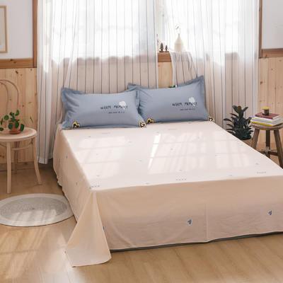2020新款-全棉12868多规单床单 半活性印花纯棉斜纹12868单品床单 120X230cm 暖心灰