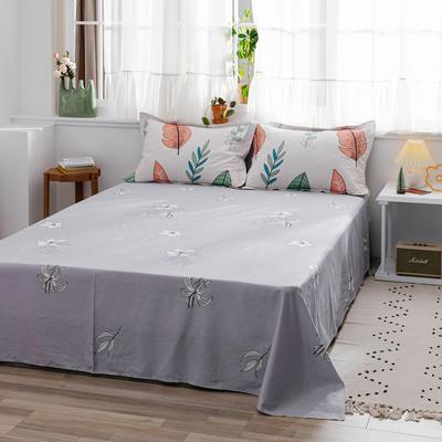 2020新款-全棉12868多规单床单 半活性印花纯棉斜纹12868单品床单 160X230cm 秋意