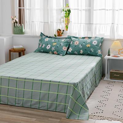 2020新款-全棉12868多规单床单 半活性印花纯棉斜纹12868单品床单 160X230cm 恬静花开
