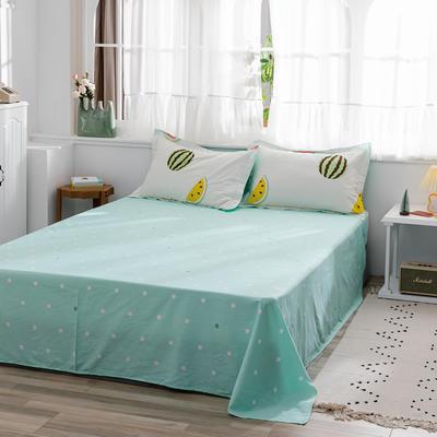 2020新款-全棉12868多规单床单 半活性印花纯棉斜纹12868单品床单 160X230cm 西瓜派