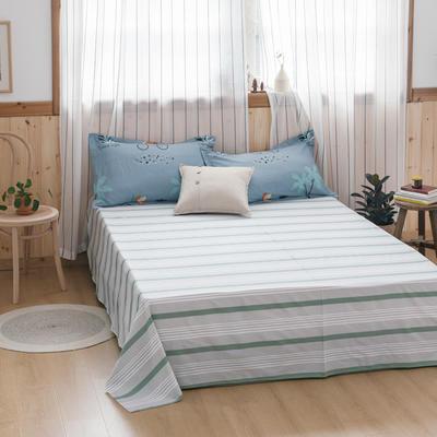 2020新款-全棉12868多规单床单 半活性印花纯棉斜纹12868单品床单 160X230cm 西蒙深蓝
