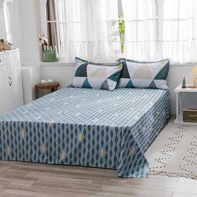 2020新款-全棉12868多规单床单 半活性印花纯棉斜纹12868单品床单 160X230cm 星月空间