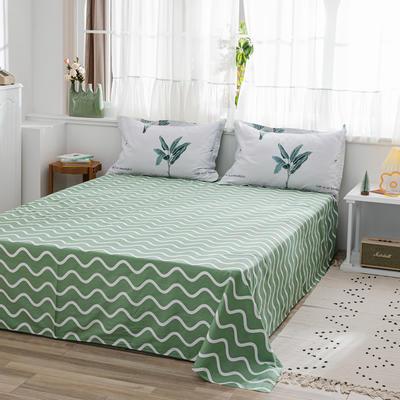 2020新款-全棉12868多规单床单 半活性印花纯棉斜纹12868单品床单 160X230cm 叶影相随