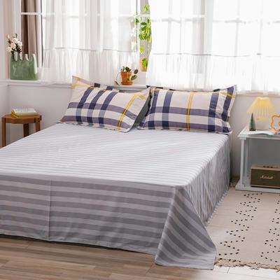 2020新款-全棉12868多规单床单 半活性印花纯棉斜纹12868单品床单 160X230cm 英伦时光