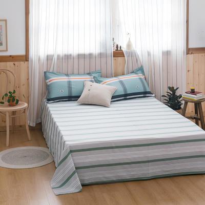 2020新款-全棉12868多规单床单 半活性印花纯棉斜纹12868单品床单 160X230cm 优格蓝
