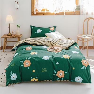【总】2020新花型 全棉窄幅学生床单人床三件套 宿舍全棉三件套纯棉三件套 1.2m(4英尺)床 春天里
