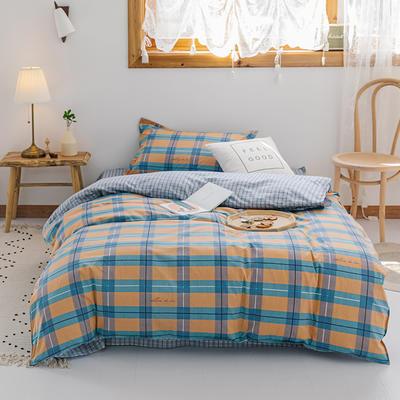 【总】2020新花型 全棉窄幅学生床单人床三件套 宿舍全棉三件套纯棉三件套 1.2m(4英尺)床 格趣