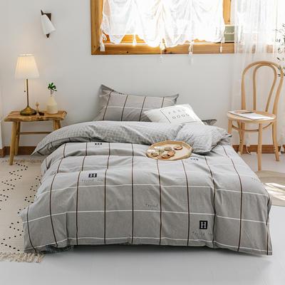 【总】2020新花型 全棉窄幅学生床单人床三件套 宿舍全棉三件套纯棉三件套 1.2m(4英尺)床 塞纳舞曲咖