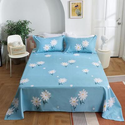 2020新款-田园风全棉12868多规格单床单 纯棉床单全棉床单斜纹印花 160*230cm 雏菊