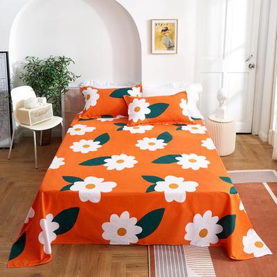 2020新款-田园风全棉12868多规格单床单 纯棉床单全棉床单斜纹印花 160*230cm 丽人风尚