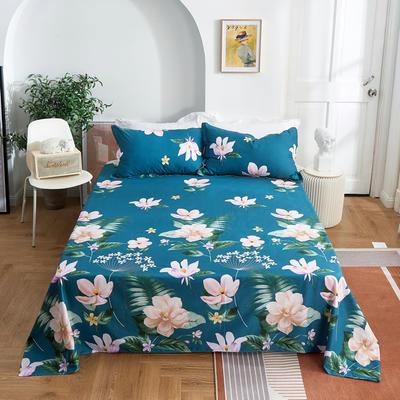 2020新款-田园风全棉12868多规格单床单 纯棉床单全棉床单斜纹印花 160*230cm 深临其境