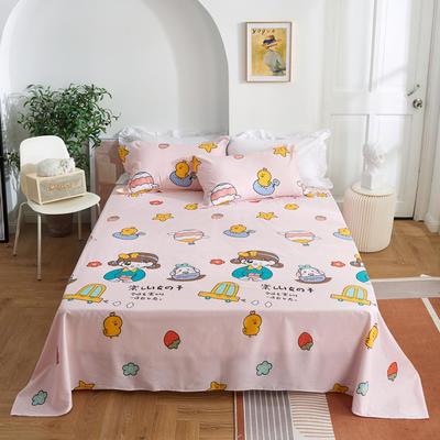 2020新款-田园风全棉12868多规格单床单 纯棉床单全棉床单斜纹印花 160*230cm 童话时光