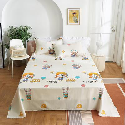 2020新款-田园风全棉12868多规格单床单 纯棉床单全棉床单斜纹印花 160*230cm 小甜甜米
