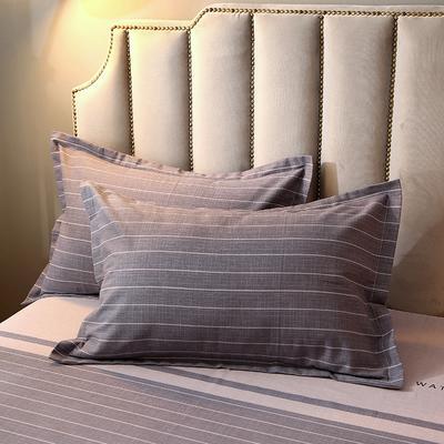 2020新款-全棉活性磨毛多规格单枕套 冬季保暖加厚纯棉磨毛印花全棉磨毛枕套单品枕套 枕套48X74cm/对 沃森