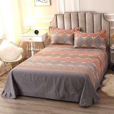 2020新款-全棉活性磨毛多规格单床单 冬季保暖加厚纯棉磨毛印花全棉磨毛床单单品床单被单 200X230直角床单 艾瑞思