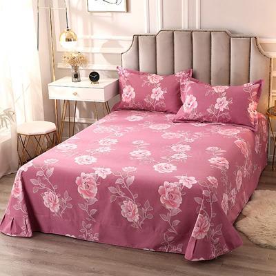 2020新款-全棉活性磨毛多规格单床单 冬季保暖加厚纯棉磨毛印花全棉磨毛床单单品床单被单 200X230直角床单 黛西小姐