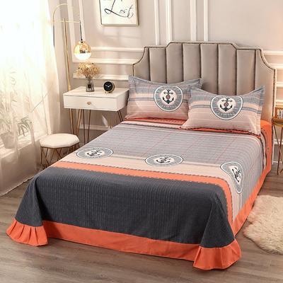 2020新款-全棉活性磨毛多规格单床单 冬季保暖加厚纯棉磨毛印花全棉磨毛床单单品床单被单 200X230直角床单 赫拉