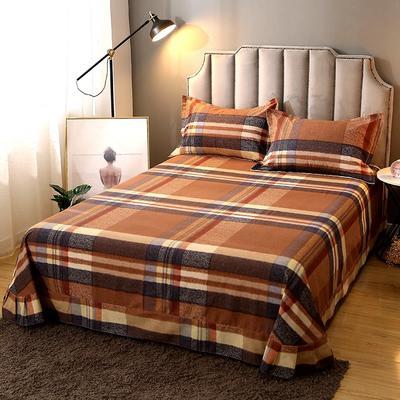 2020新款-全棉活性磨毛多规格单床单 冬季保暖加厚纯棉磨毛印花全棉磨毛床单单品床单被单 200X230直角床单 克里斯