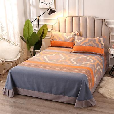 2020新款-全棉活性磨毛多规格单床单 冬季保暖加厚纯棉磨毛印花全棉磨毛床单单品床单被单 200X230直角床单 利兹