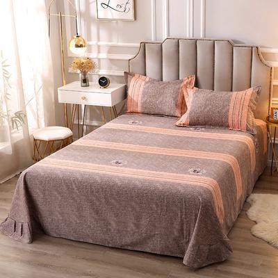 2020新款-全棉活性磨毛多规格单床单 冬季保暖加厚纯棉磨毛印花全棉磨毛床单单品床单被单 200X230直角床单 路易时尚-灰
